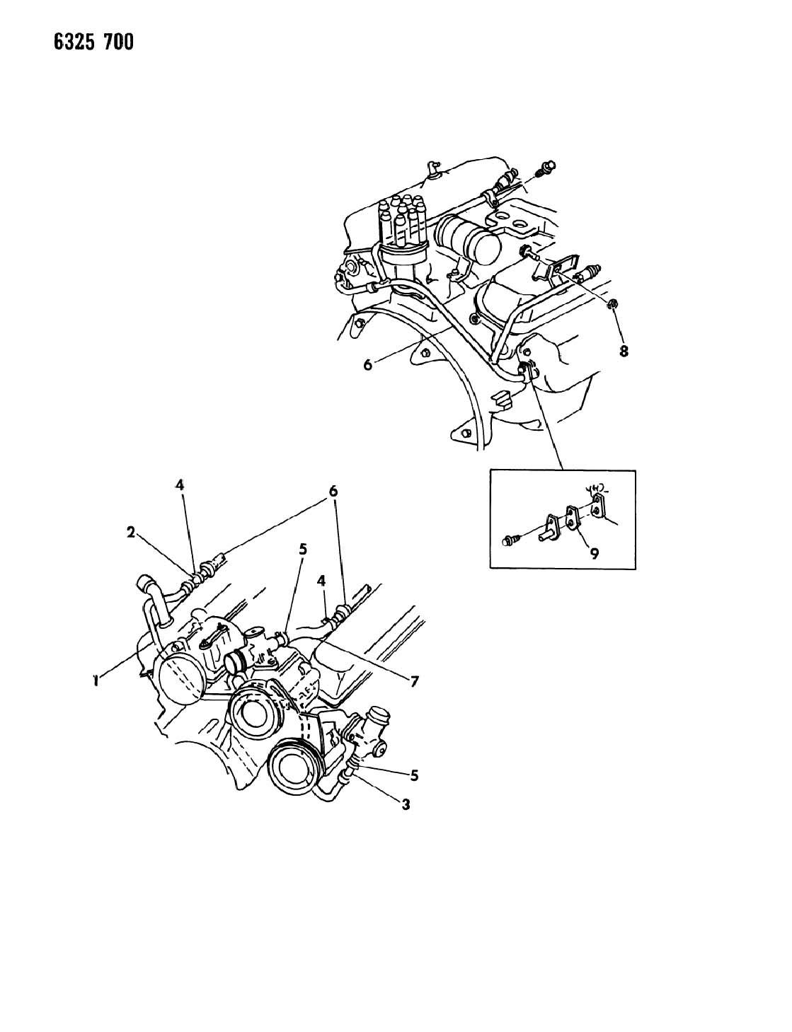 1987 dodge ram 150  250  350 air pump tubing