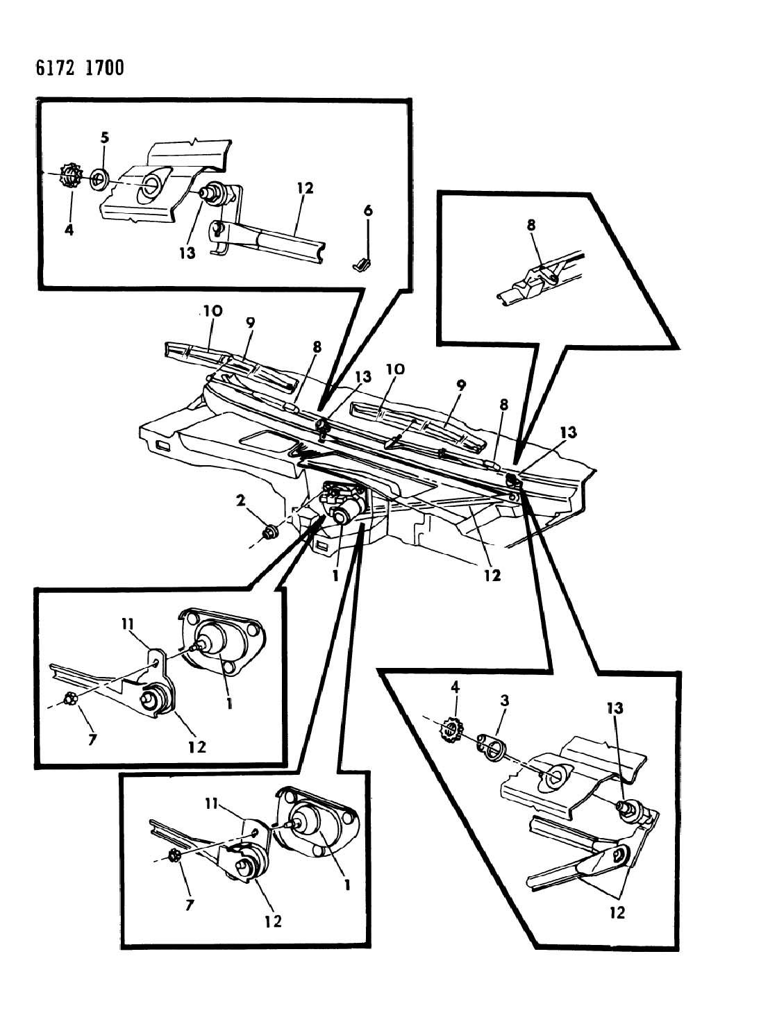 Dodge Diplomat Windshield Wiper System M Body