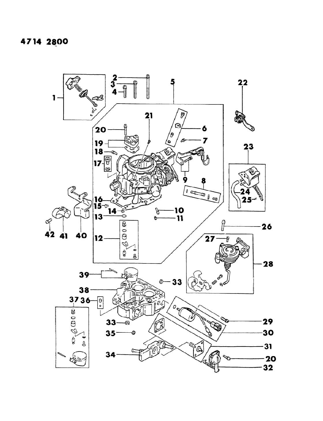 mitsubishi mighty max parts diagram carburetor