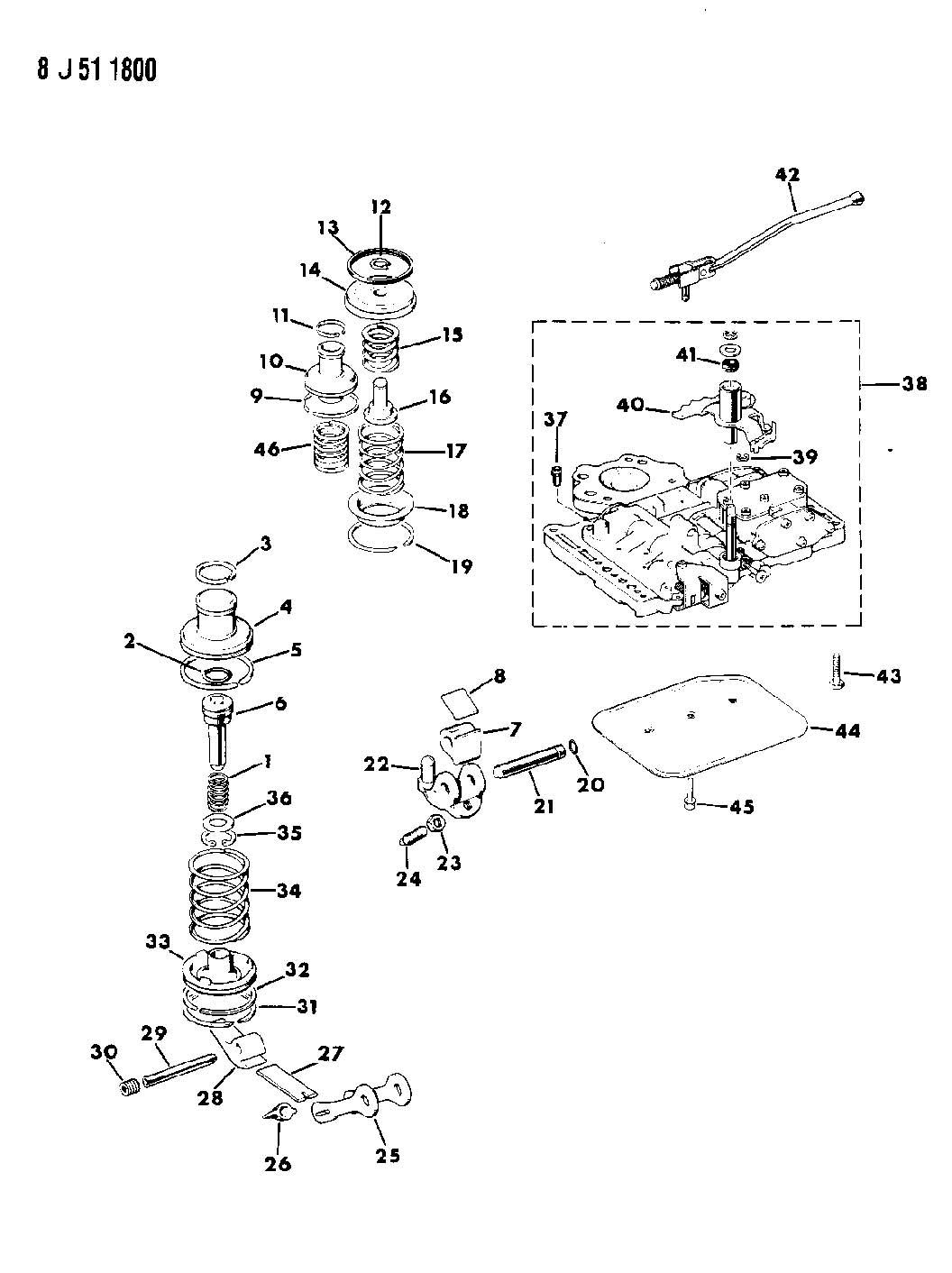 servos, accumulator and valve body automatic transmission ... a727 transmission diagram 1993 gmc transmission diagram #15