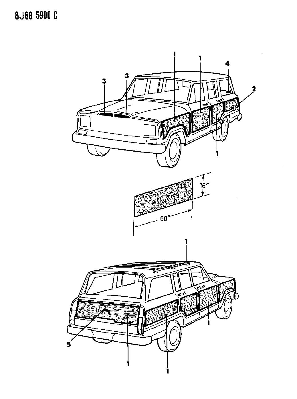 1988 jeep grand wagoneer body parts