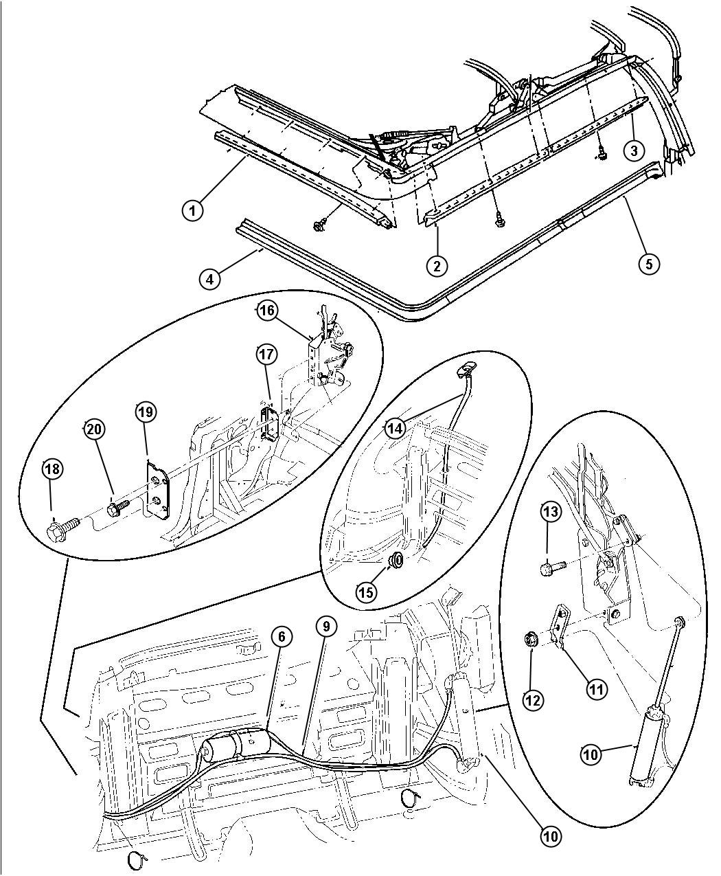 1999 Chrysler Sebring Convertible Motor And Weatherstrip