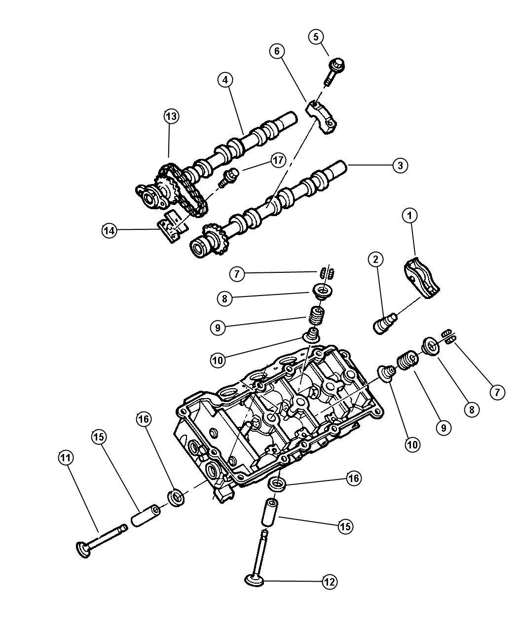 Chrysler Concorde Camshaft And Valves 2.7L Engine