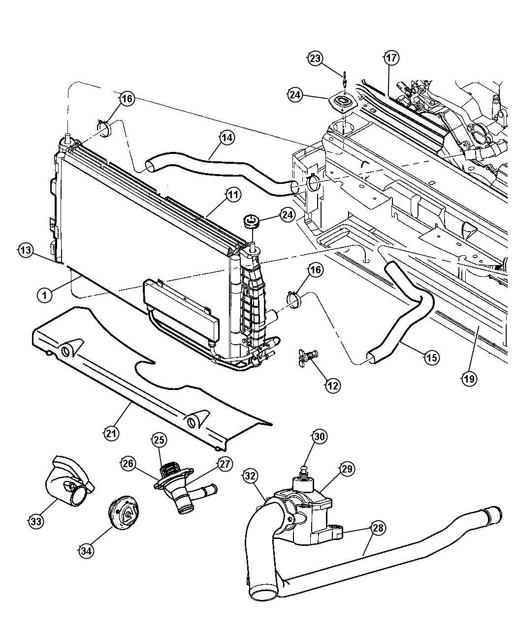 2000 chrysler concorde radiator replacement