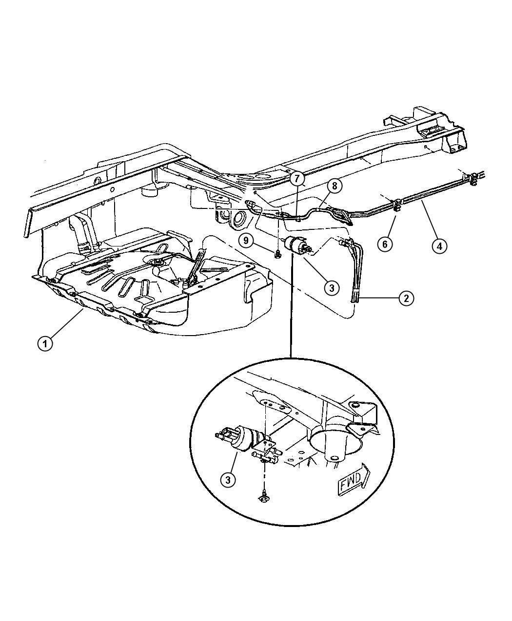 2001 jeep grand cherokee fuel lines  rear  eva
