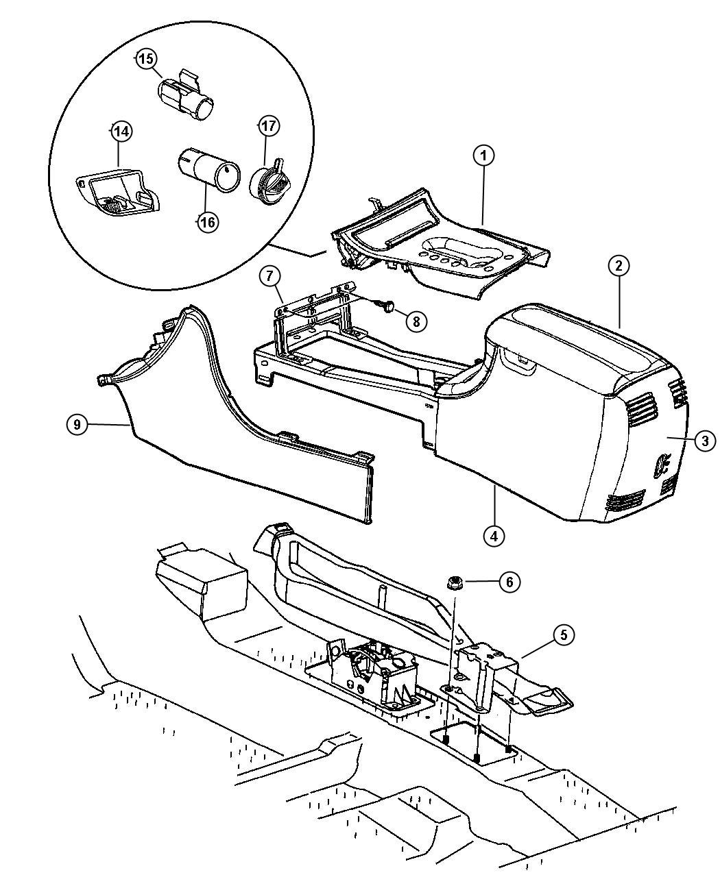 service manual  remove 1995 chrysler lhs console