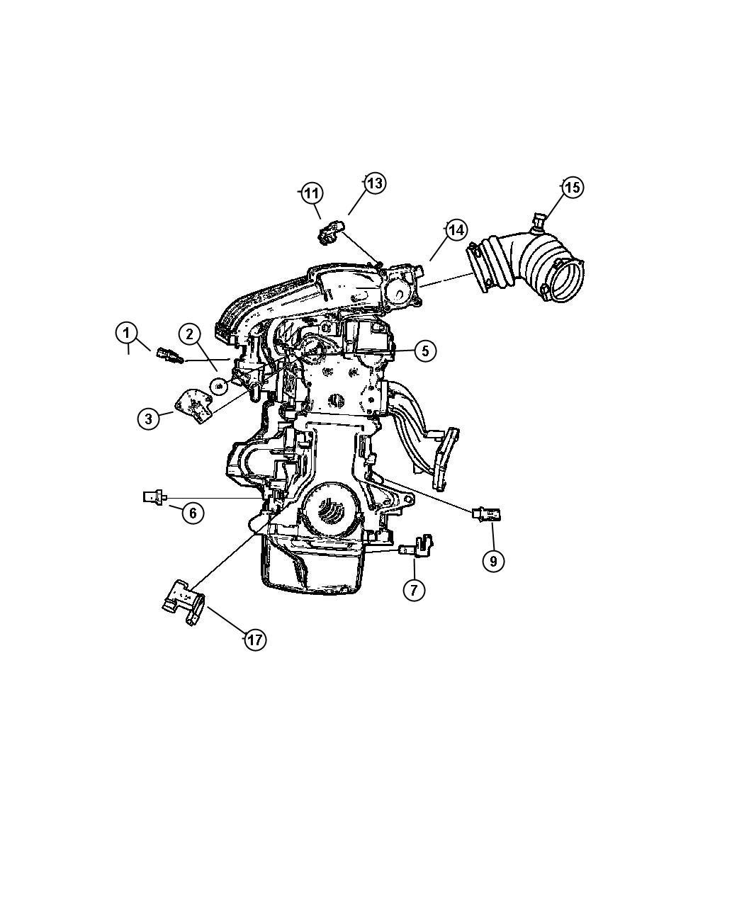 2004 Dodge Stratus Sensors, Engine (2.0-ECC, 2.4-EDZ,EDV,ED2