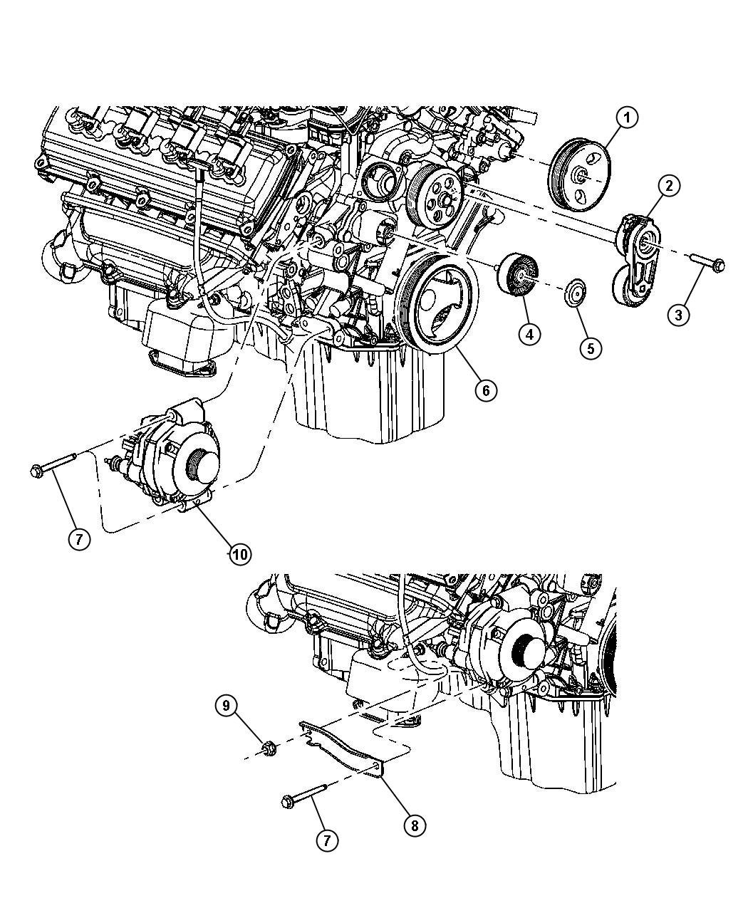 98 jeep pulley diagram