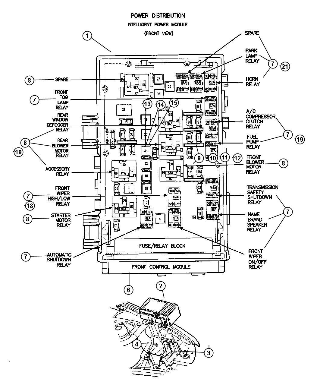 Fuse Box Diagram For 2001 Dodge Grand Caravan Schematics Wiring 1999 Junction 2005 Get Free Image 2004