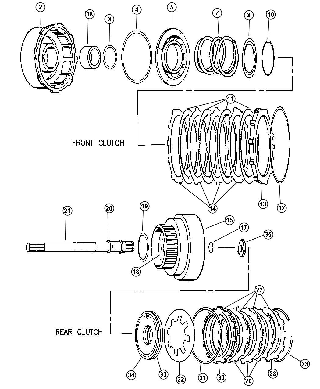 98 jeep wrangler transmission rear seal