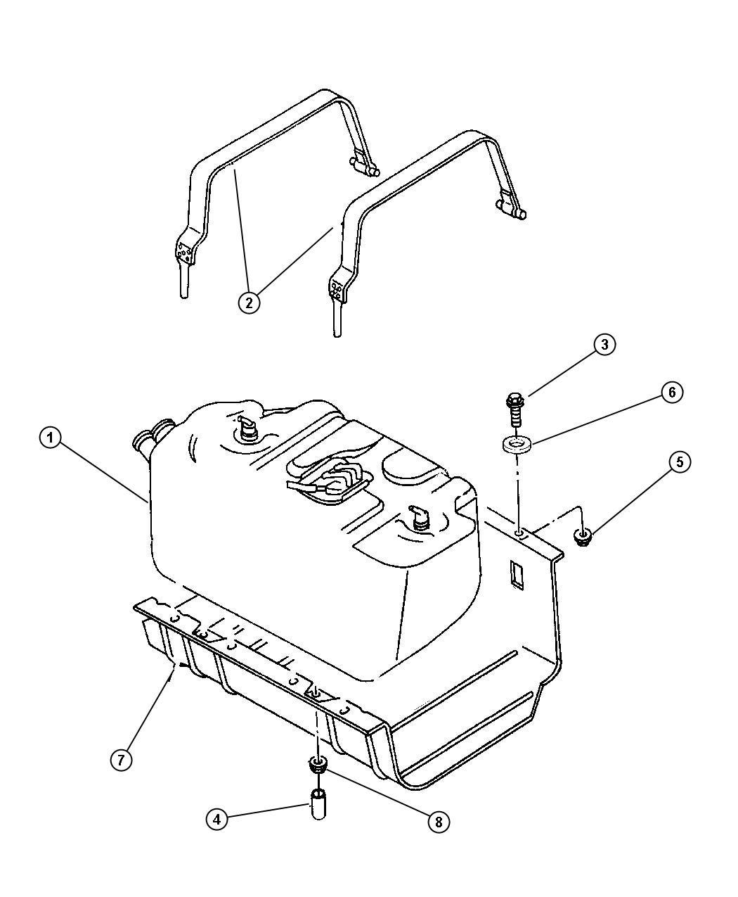 1999 jeep wrangler fuel tank. Black Bedroom Furniture Sets. Home Design Ideas