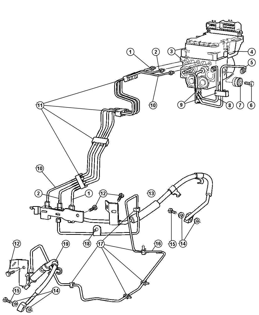 Dodge Factory Brake Lines : Dodge ram hemi magnum l smpi v spd