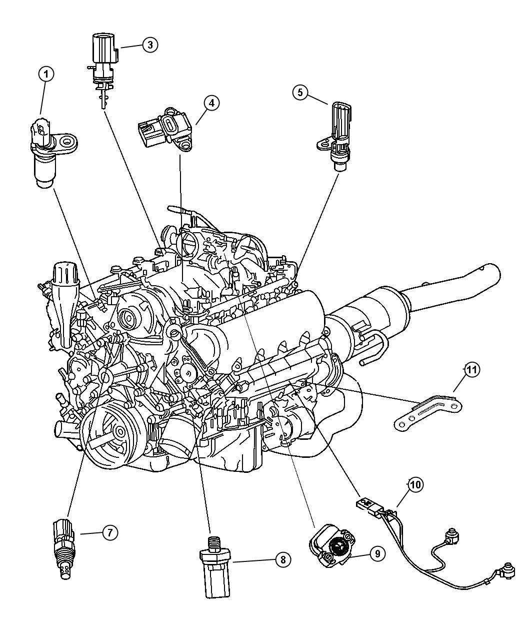 2006 dodge dakota sensors  engine 3 7l  ek0