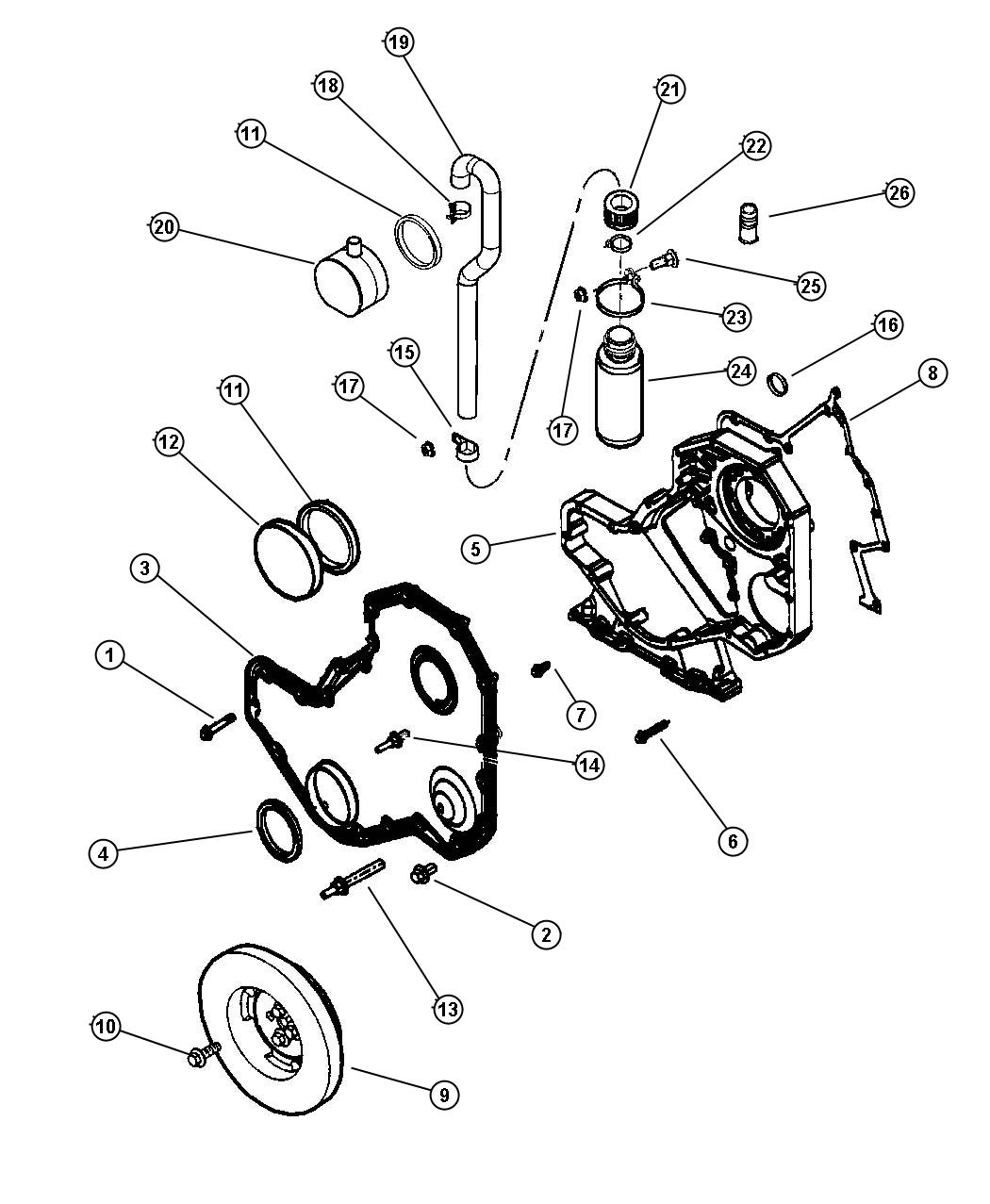 timing gear and cover