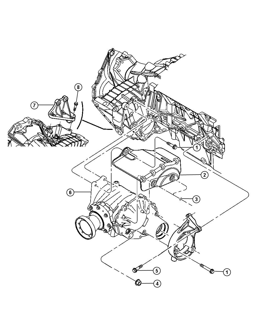 geo tracker transfer case diagram