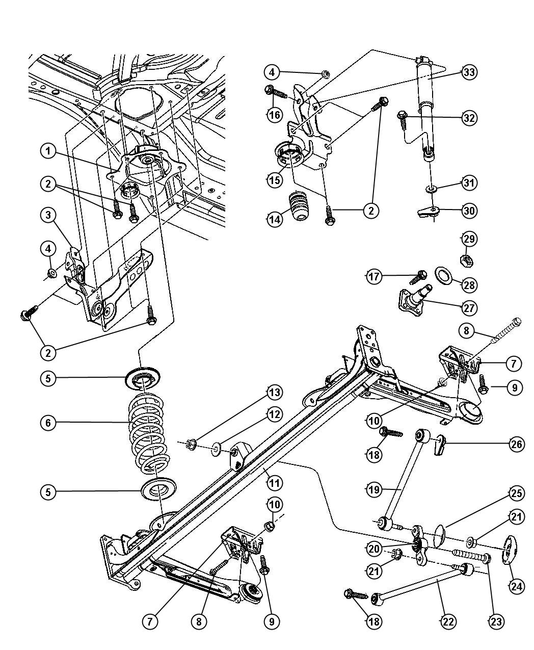 2002 pt cruiser suspension diagram