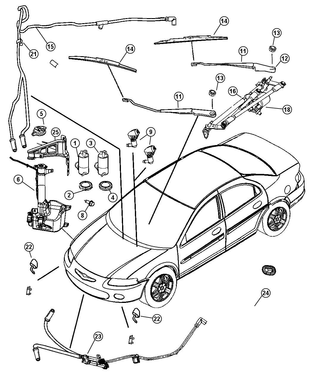 honda cr v 2004 windshield wiper parts diagram