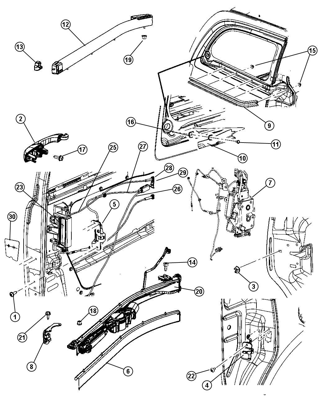 2008 Chrysler Town And Country Sliding Door Parts Diagram Wiring 2010 3 8 Engine Hardware Components 2005 Fuse