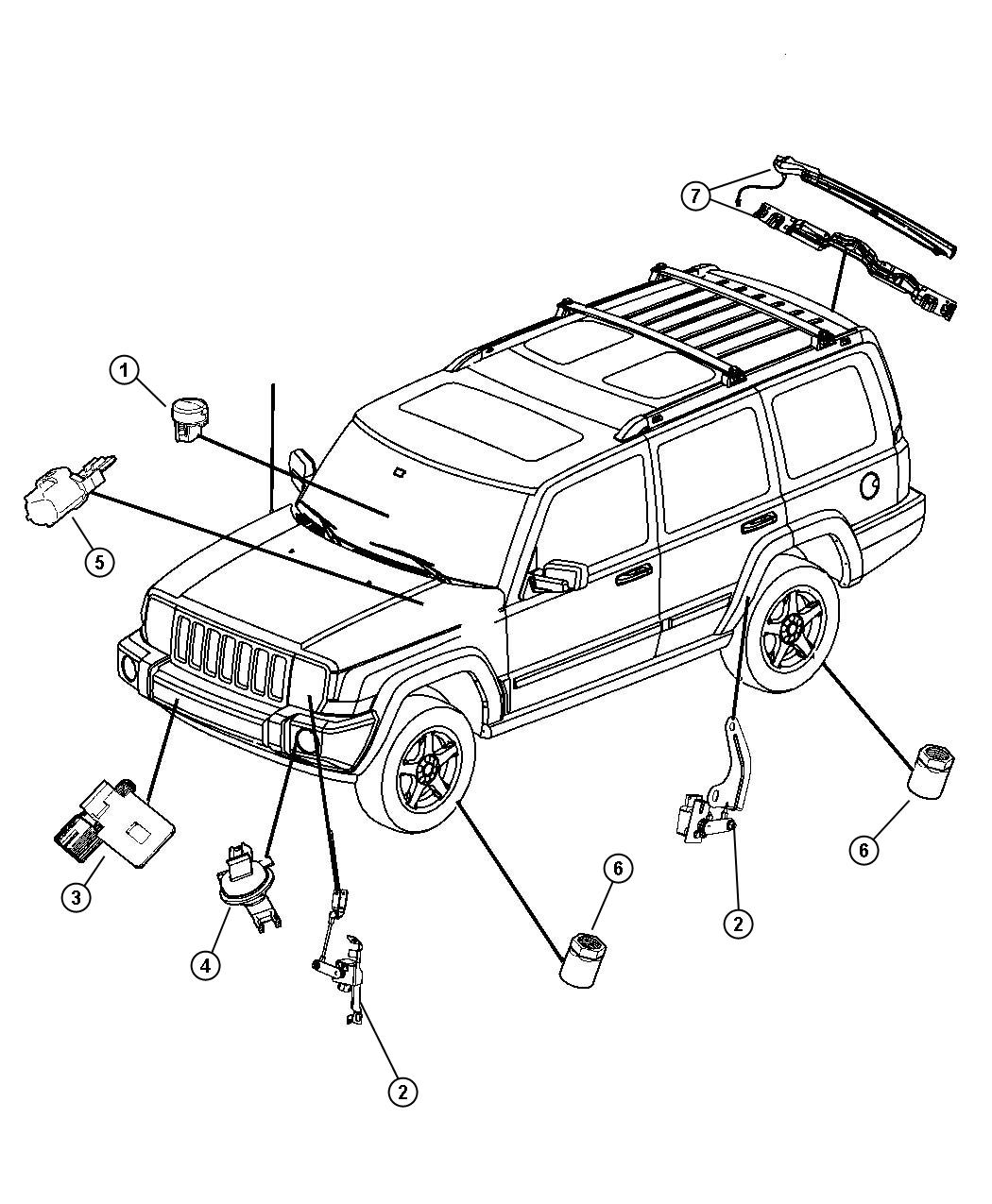 Jeep Commander Sensors Body