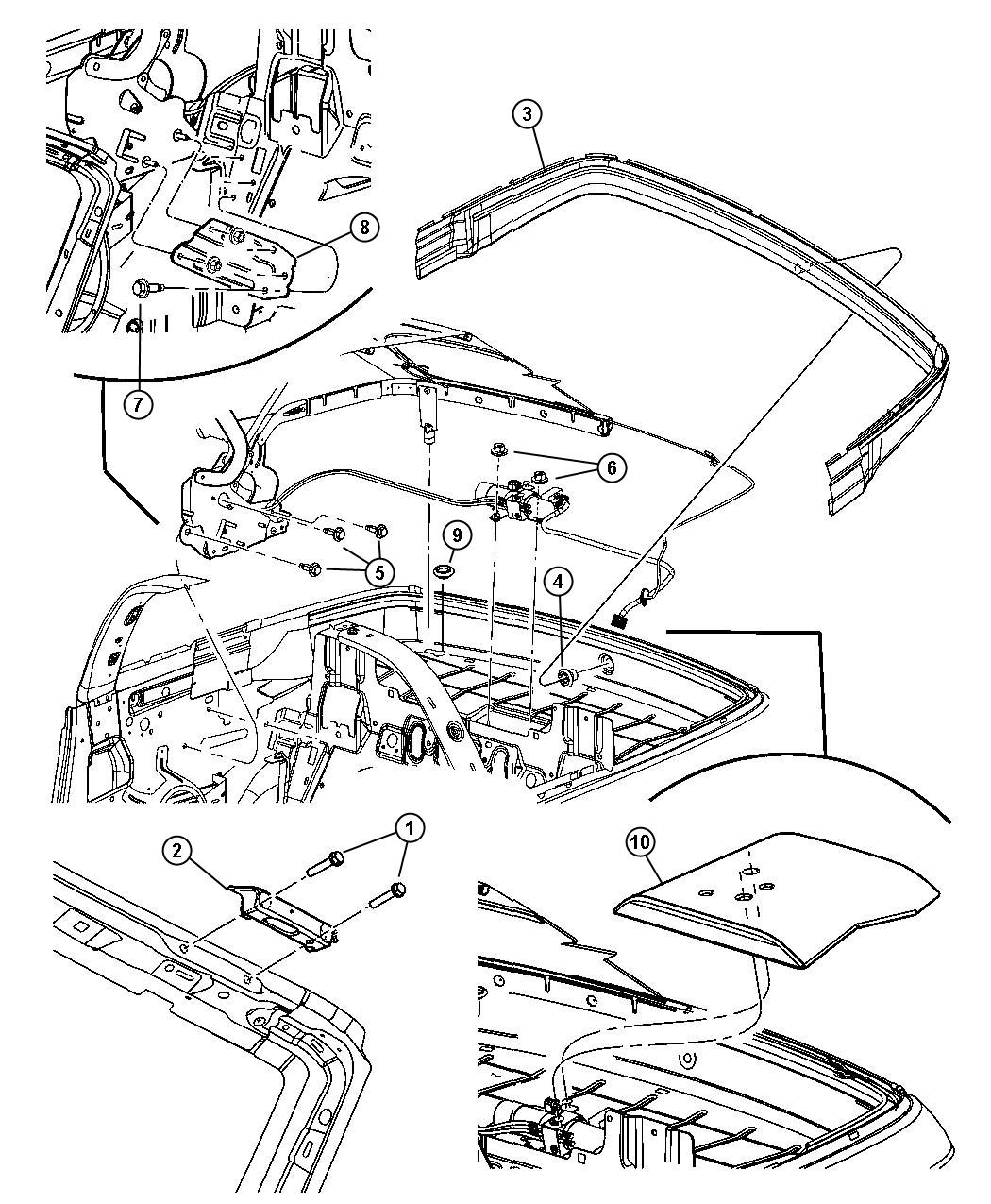 convertible top attaching parts selected part 05067475ag trough. Cars Review. Best American Auto & Cars Review