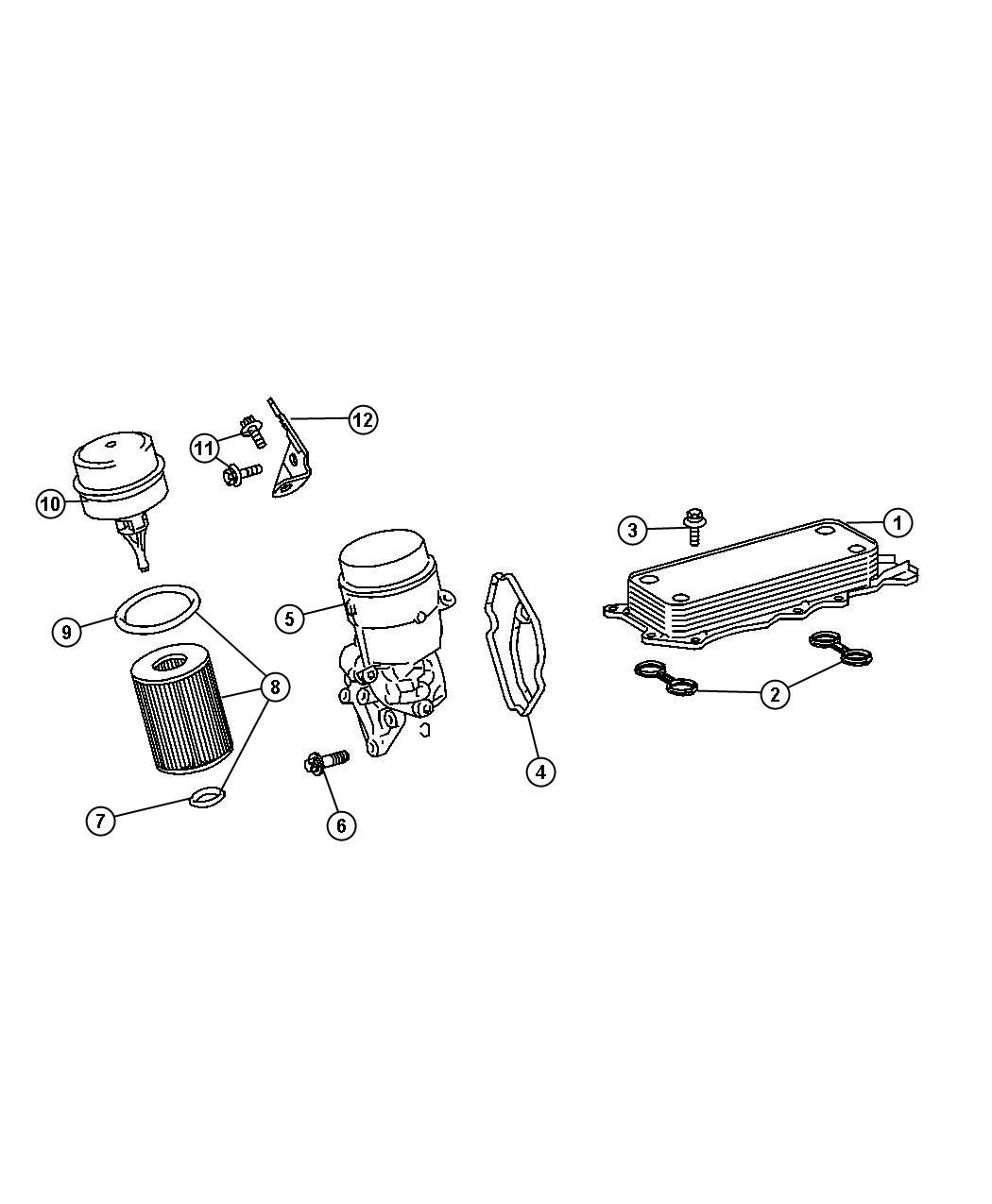 engine oil filter adapter cooler hoses tubes for