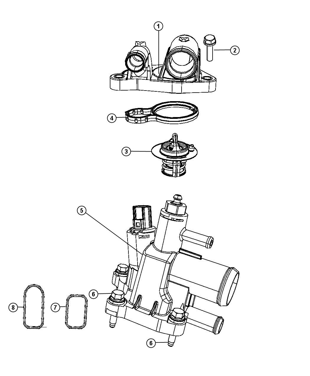 dodge ram 3500 thermostat location