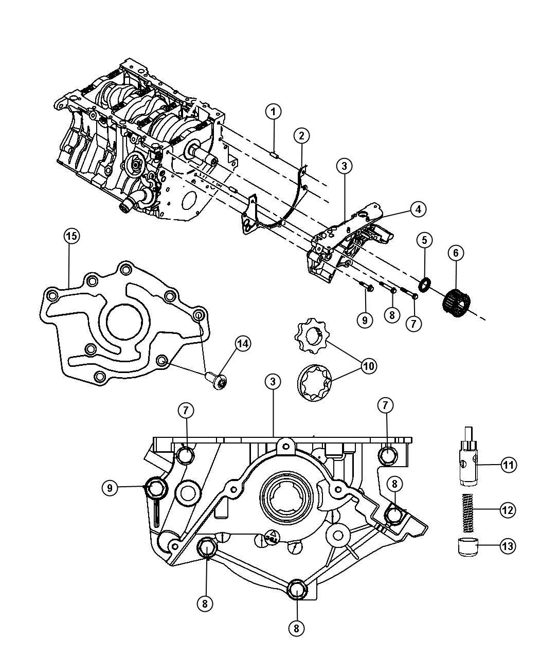 2009 Dodge Journey Engine Oiling Pump 3.5L [EGF]