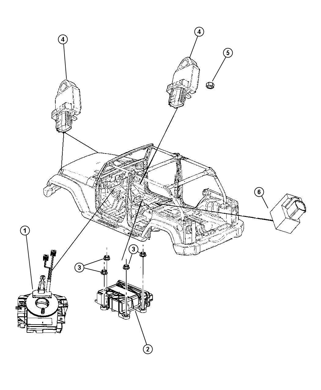 jeep wrangler engine wiring diagram best wiring library 1979 Ford Alternator Wiring Diagram 2010 jeep wrangler air bag modules impact sensors and airbag ledningsdiagram for 98 wrangler auto electrical wiring diagram 2010 jeep