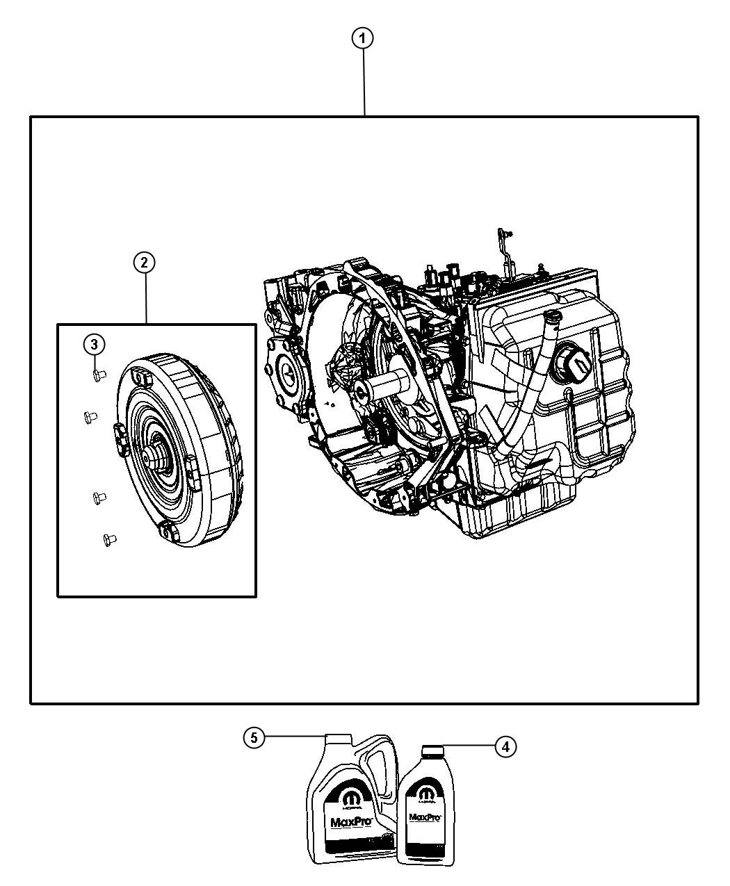 2010 Dodge Grand Caravan Transmission    Transaxle Assembly