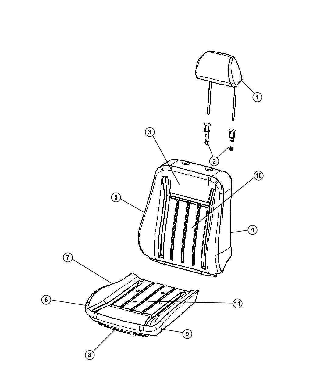 jeep wrangler bucket seat parts imageresizertool com Bucket Illustration bucket seat diagram