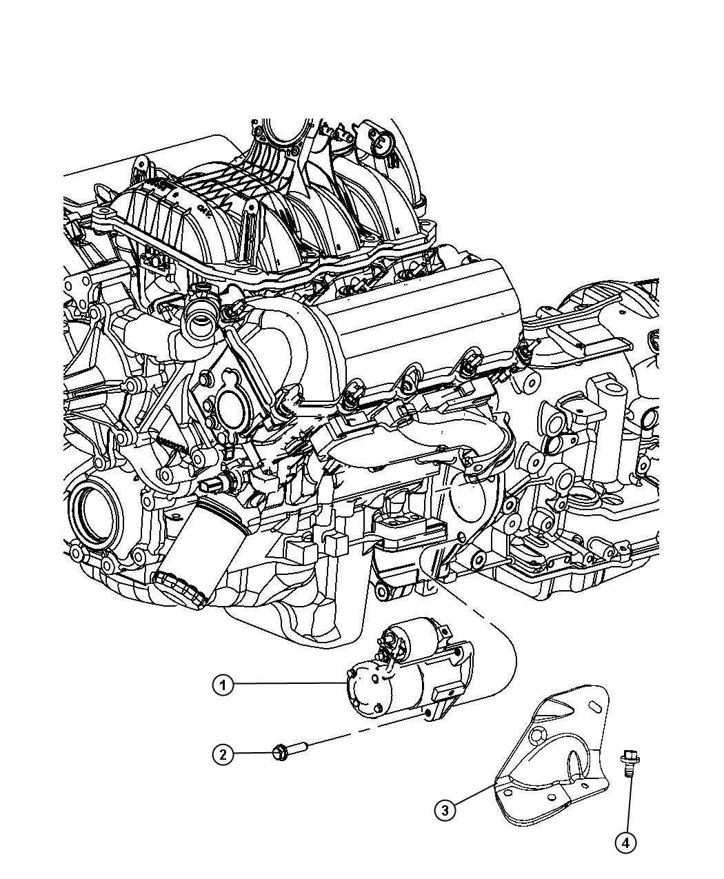 service manual  remove starter 2011 dodge nitro